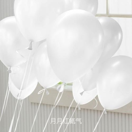 白色 乳膠氣球