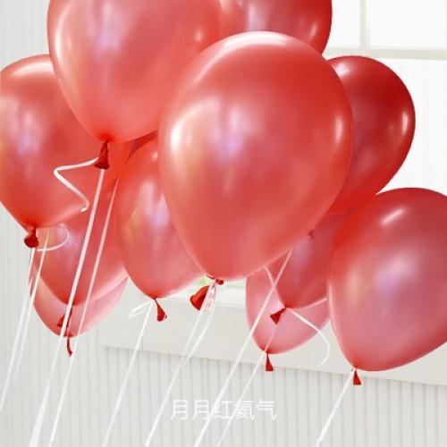 大紅色 乳膠氣球