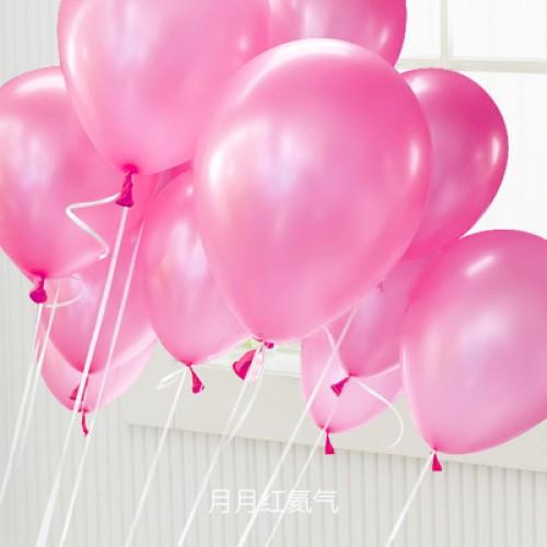 粉紅色 乳膠氣球