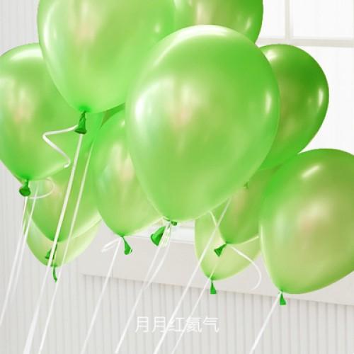 果綠色 乳膠氣球