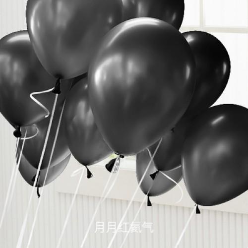 黑色 乳膠氣球