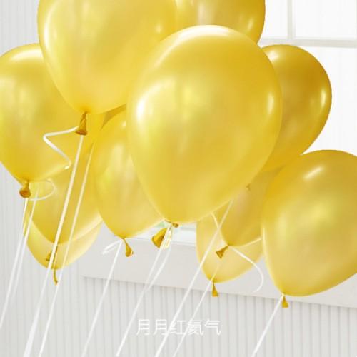 金色 乳膠氣球