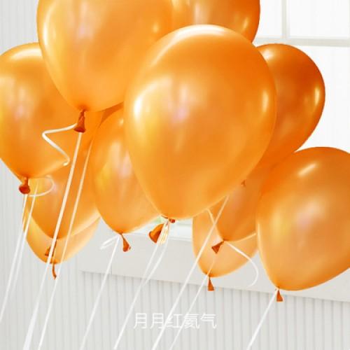 橘色 乳膠氣球