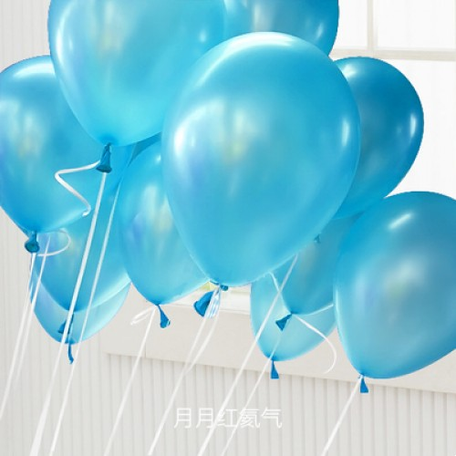 淺藍色 乳膠氣球