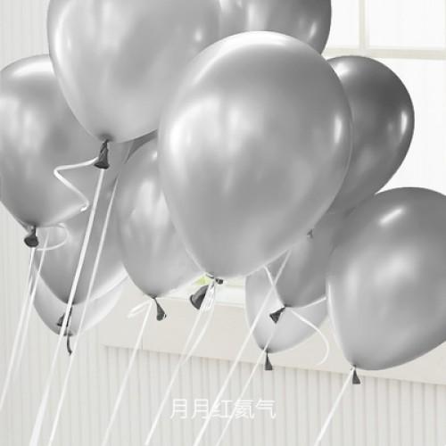 銀色 乳膠氣球