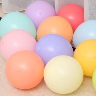 10英寸馬卡龍色乳膠氣球5个一组