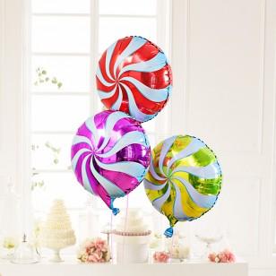 藍色 18英寸棒棒糖鋁箔氣球