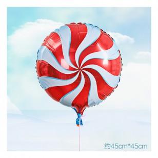 紅色 18英寸棒棒糖鋁箔氣球