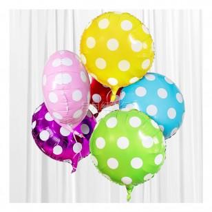 黃色 18英寸波點鋁箔氣球