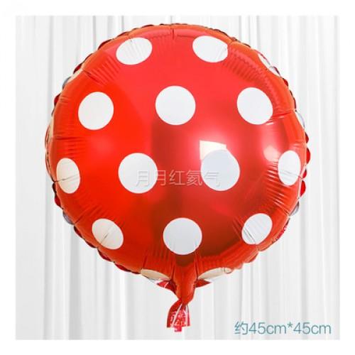 大紅色 18英寸波點鋁箔氣球