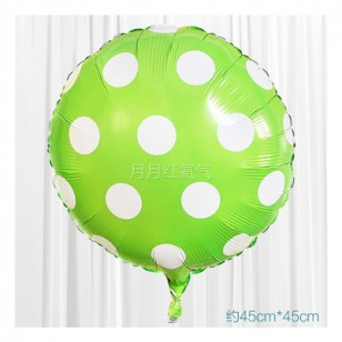 綠色 18英寸波點鋁箔氣球