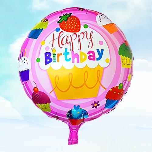 18寸生日鋁箔氣球 草莓蛋糕