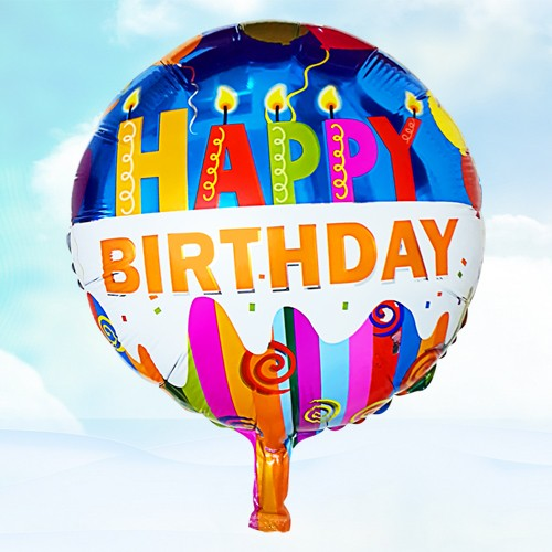 18寸生日鋁箔氣球 蠟燭生日