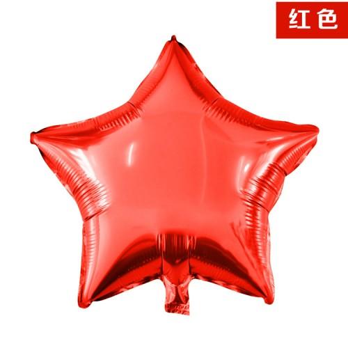 紅色 18英寸五角星星鋁箔氣球