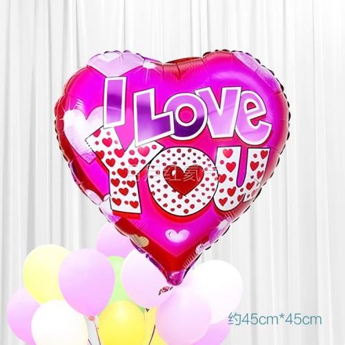 18寸婚禮結婚心形鋁箔氣球 E款