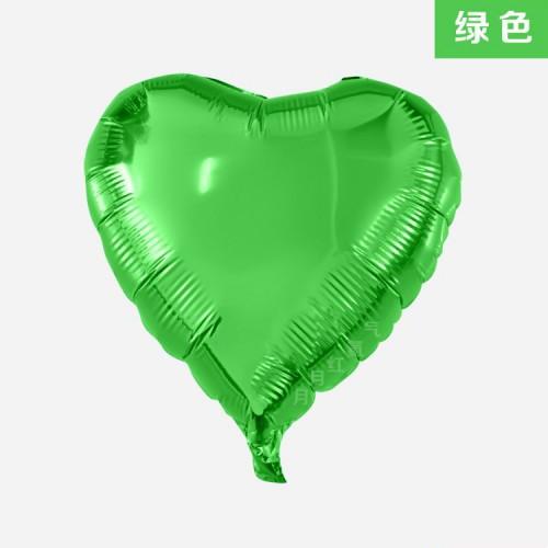 綠色 18寸愛心鋁箔氣球