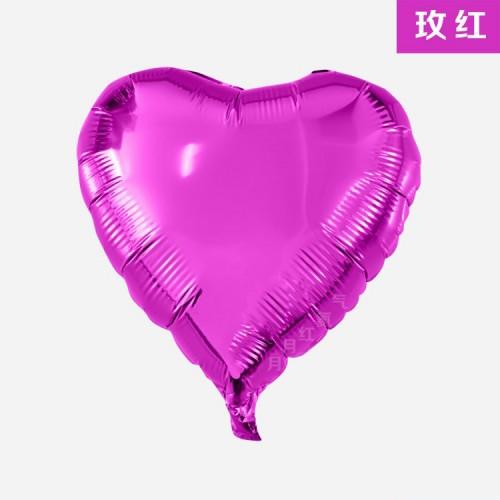 玫紅色 18寸愛心鋁箔氣球