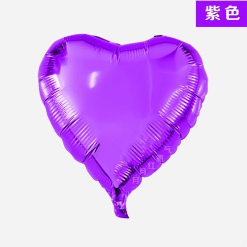 紫色 18寸愛心鋁箔氣球