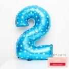 藍色數字2