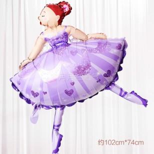 跳舞女孩 芭蕾舞女孩 紫色
