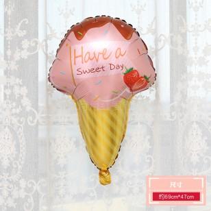 icecream冰淇淋大號鋁箔氣球 粉色甜筒