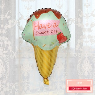 icecream冰淇淋大號鋁箔氣球 綠色甜筒