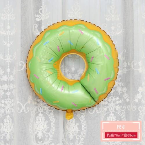 甜甜圈大號鋁膜氣球 綠色