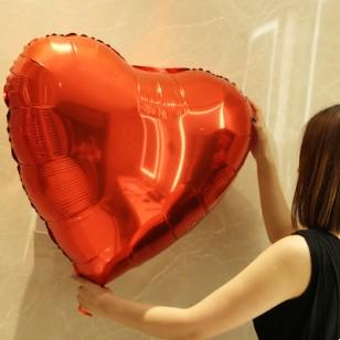 超大號32寸愛心心形鋁膜氣球 紅色