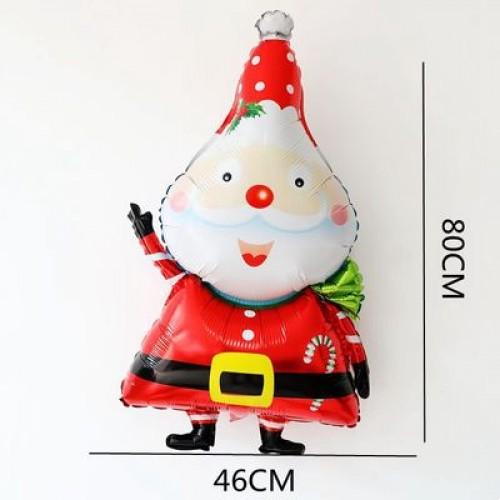 Merry Christmas Santa Claus 耶誕節聖誕節氣球 戴圍巾聖誕耶誕老人