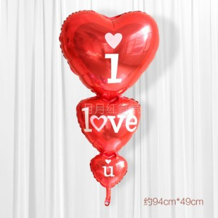 結婚鋁箔氦氣球創意串串心 LOVE款