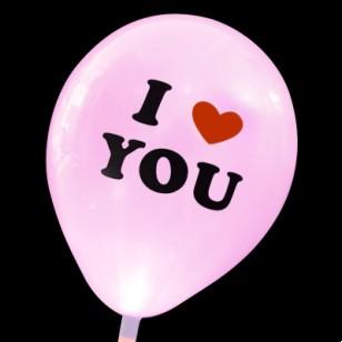 發光氣球 Love you粉色款