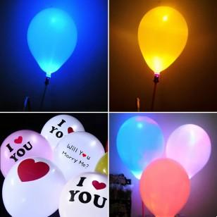 發光氣球 藍色