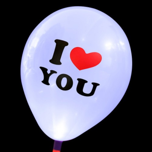 發光氣球 Love you白色款