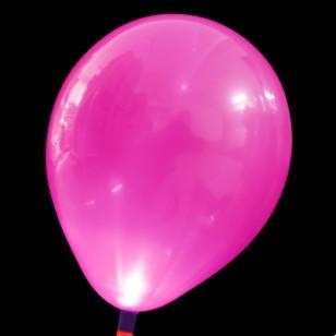 發光氣球 玫紅色