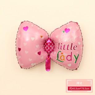 蝴蝶結鋁膜氣球 女寶寶款