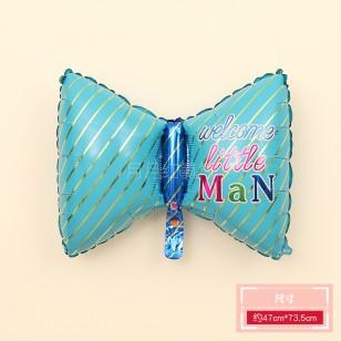 蝴蝶結鋁膜氣球 男寶寶款