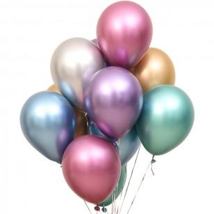 金屬色铬色加厚珠光氣球10個一組