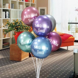 金屬色十二英寸大自訂logo自製logo廣告氣球 定製定做balloons 訂製印logo 定做訂做印字 印刷logo氣球  (100個起訂)