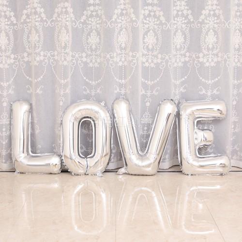 大號42寸銀色LOVE字母氣球