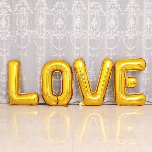 大號42寸金色LOVE字母氣球