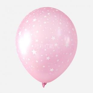 韓國12寸滿天星乳膠氣球滿印星星 透明