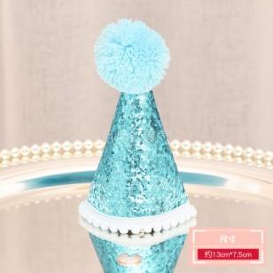 藍色亮片生日帽 + 數字選擇