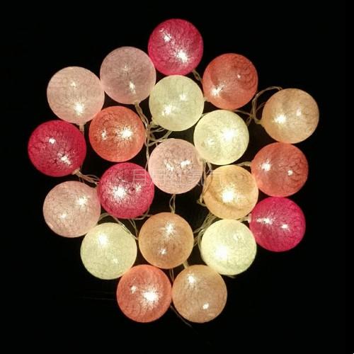 小彩燈串串燈LED棉綫球燈20球3米