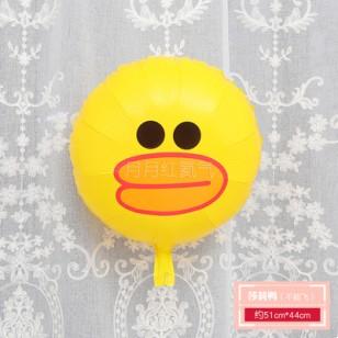 孩童卡通動物小鋁箔氣球 不能飛  莎莉鴨