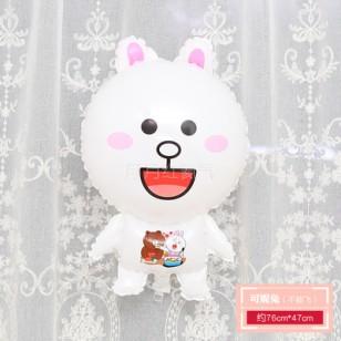 孩童卡通動物小鋁箔氣球 不能飛  全身可妮兔