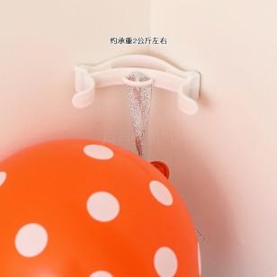 氣球墻角挂鈎 拉花挂墻器 天花板墻角挂件工具(2個)