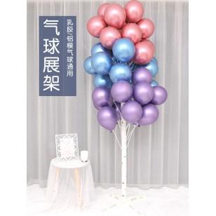 落地氣球立柱支架氣球樹+50根氣球托杆  注水款