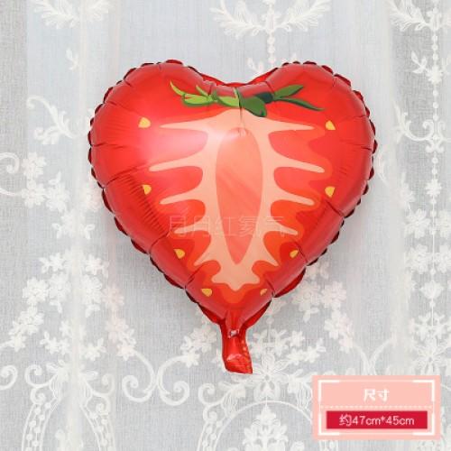 卡通水果鋁膜氣球 18寸圓形草莓
