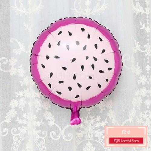 卡通水果鋁膜氣球 18寸圓形火龍果