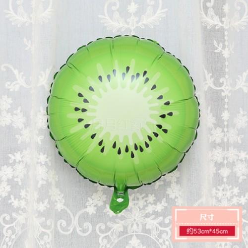 卡通水果鋁膜氣球 18寸圓形獼猴桃